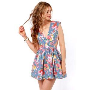 Nasty Gal Fresh Cut Floral Cut-out Dress